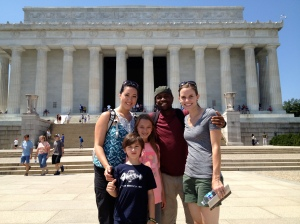Lincoln Memorial with the Newcomers