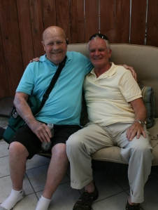 Two of our fathers, Rex Garrick and Norm Jones