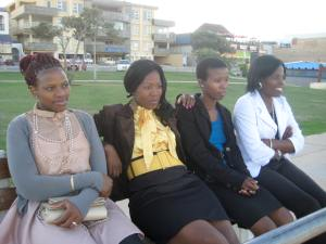 Some of the LXP ladies, dressed to impressed before the official opening