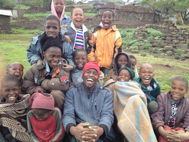 Godfrey with Ha Makopela kids