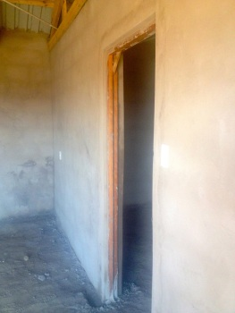 Finished plastering