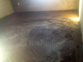 Unfinished floor