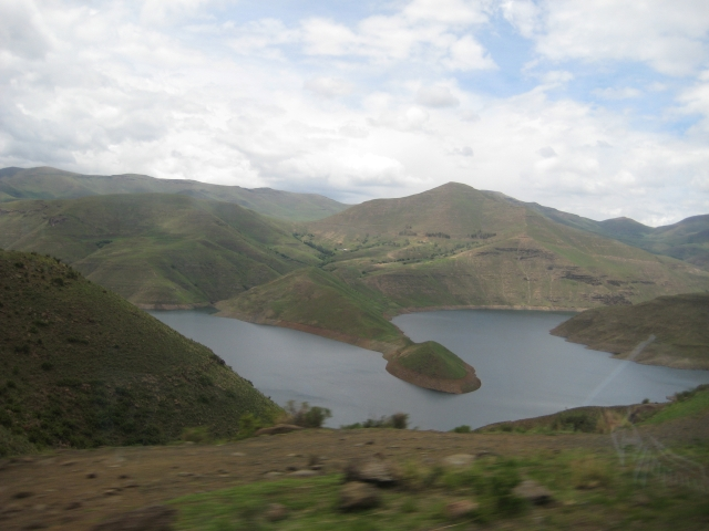 The beautiful Maluti Mountains in Leribe District of Lesotho