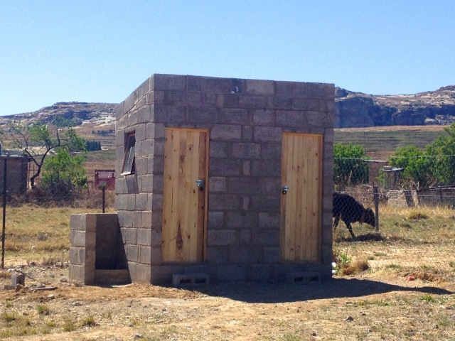 The outdoor toilets were the last step to be completed before we moved in. Indoor plumbing will be installed next!
