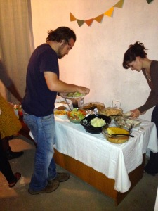 We hosted Thanksgiving Dinner with some American friends